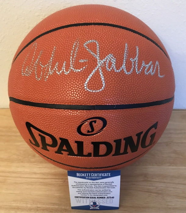 25e44bc5695 Kareem Abdul-Jabbar authentic Autographed Spalding Basketball by NBA USA  HOF Star with COA by