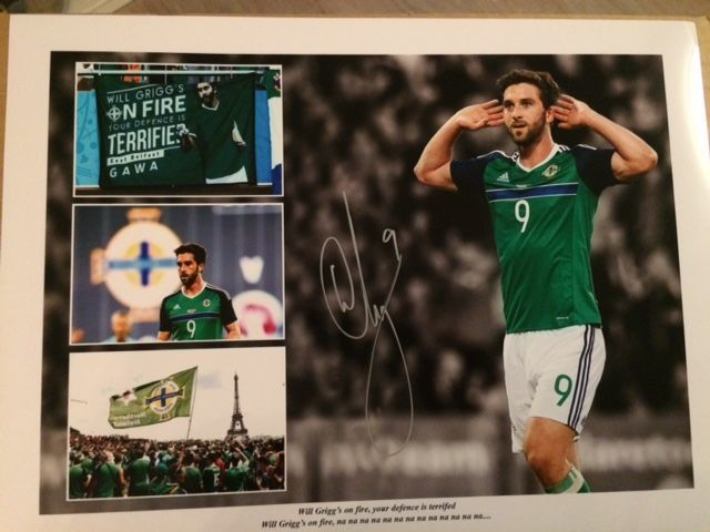 Will Grigg - Autographed Collage