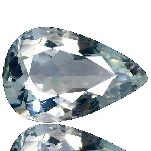 Clear aquamarine with a pale blue tint of 2.25 ct