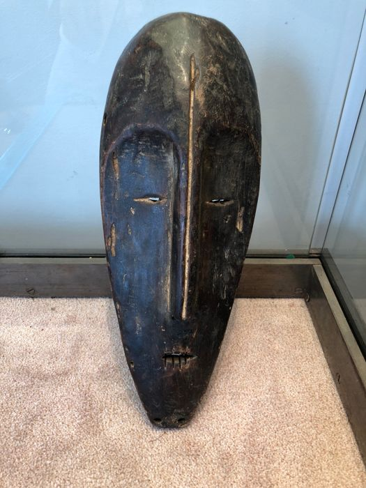 Very Beautiful Mask Carved in Wood - LEGA - Former Belgian Congo