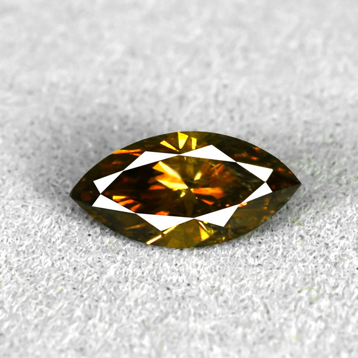 Cognac Diamond - 0.58 ct, NO RESERVE PRICE