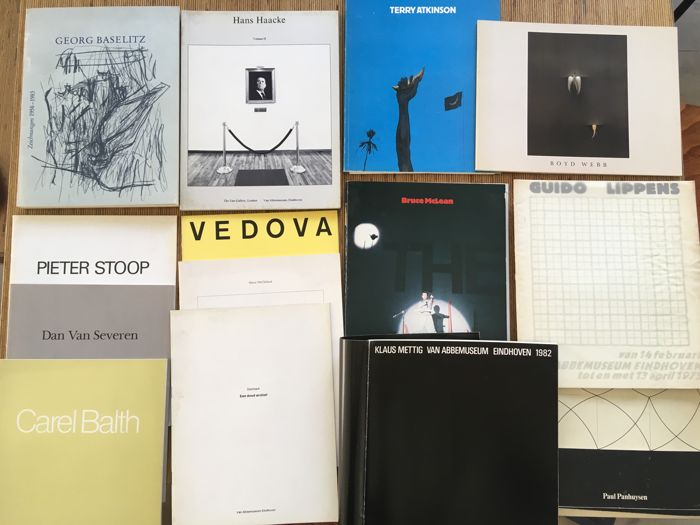 Van Abbemuseum; Lot with 13 art catalogues  - 1975/1982