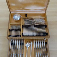 "63 piece silverware set, CHRISTOFLE, ""SPATOUR"" model,  20th century"