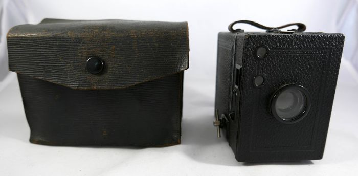 Very rare! Goerz C.P.: Box Tengor (6x9) no Zeiss Ikon!!! with a case 1924