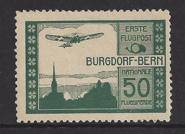 Switzerland 1913 - Flug mark - Michel IV, type x