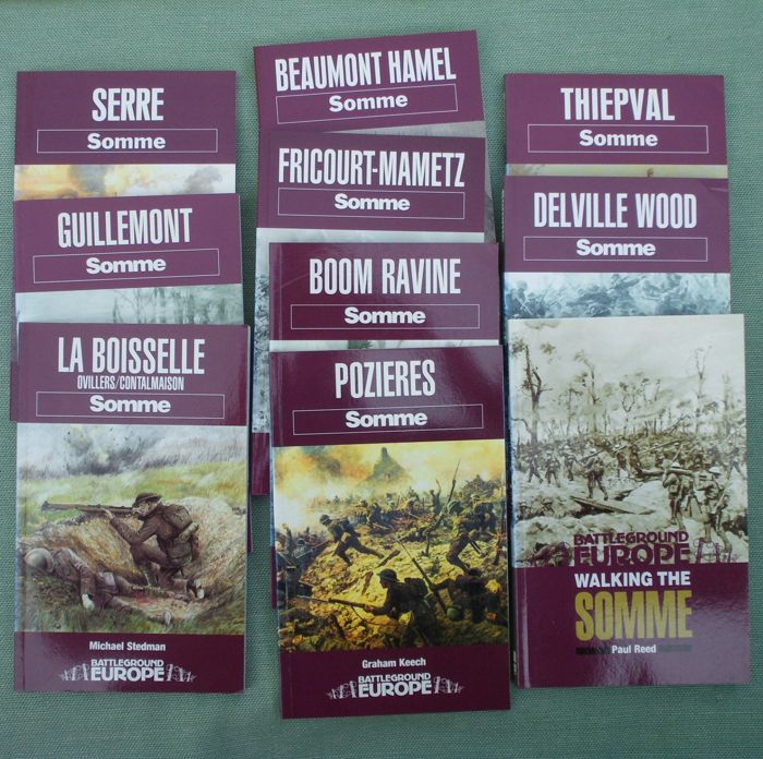 Various - WW1: books from series Battleground Europe - Somme - 1994/1999