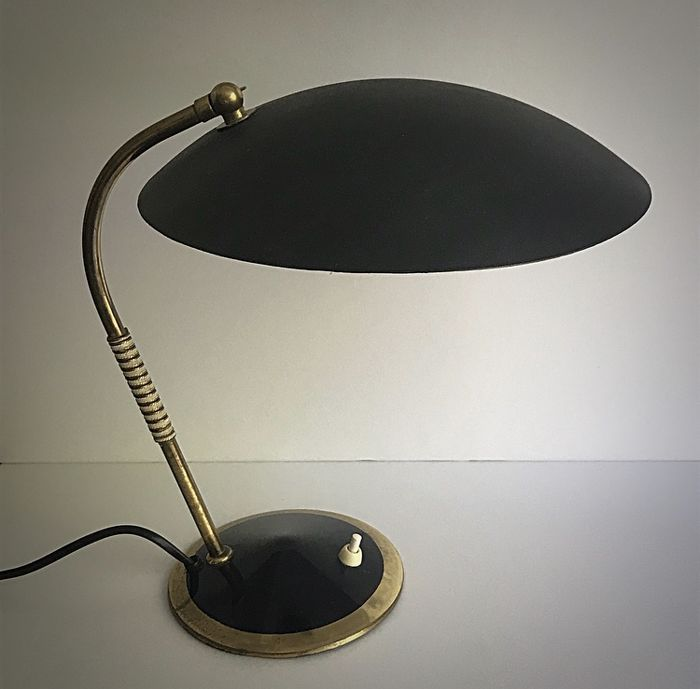 Helo Attri Brass Table Lamp With A Black Shade In The Style Of Stilnovo Catawiki