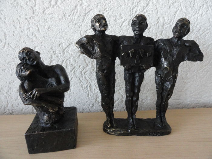 Astrid Veldhuyzen-Koppen - 2 figurines with monogram