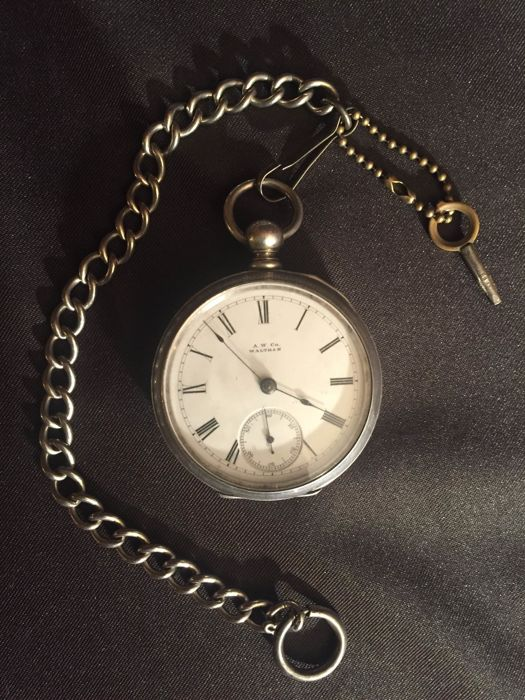 Waltham pocket watch - men - 1880 - NO RESERVE PRICE