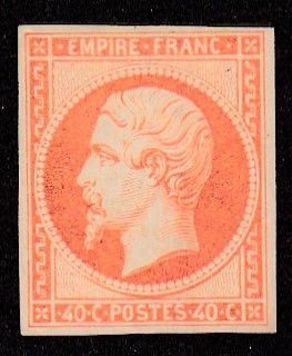 Frankrijk - Empire non dentelé - 40c orange neuf signé Brun - Yvert 16