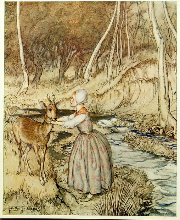 Brothers Grimm - Rackham - Little Brother & Little Sister - 1917