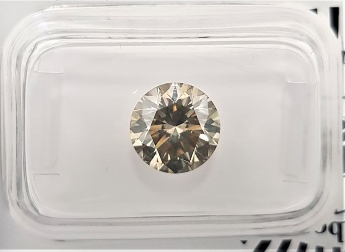2.23 ct - Natural Fancy Diamond - Brownish Green Color - VS1 - EX/EX/EX