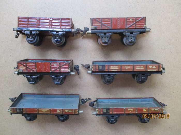 Märklin 0 - 1764/1661/1916 - Güterwagen - lot de 6 wagons tombereau - DB