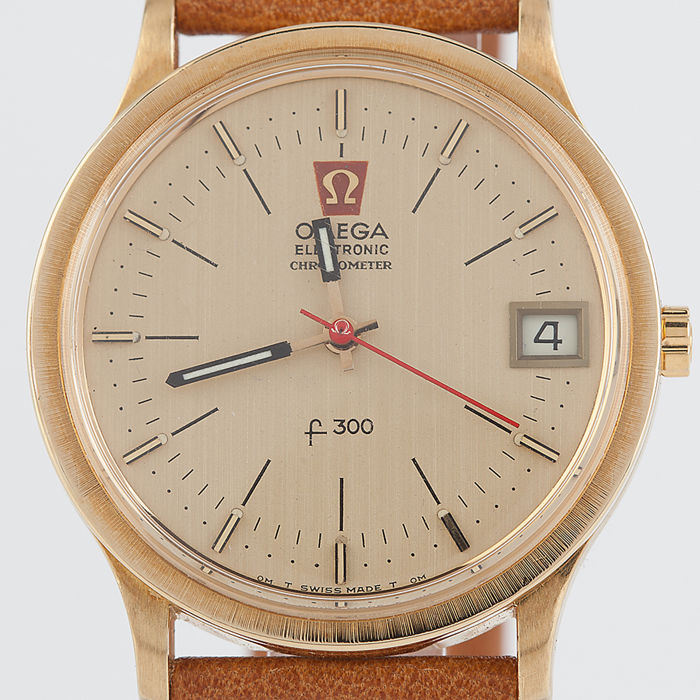 Omega - F300 Electronic Chronometer 18k solid gold - Heren - 70's