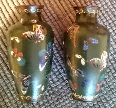 Two vases cloisonne - China -  ca. 1900