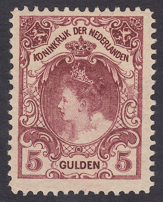 The Netherlands 1899 - Queen Wilhelmina type 'Fur collar' - NVPH 79D, with inspection certificate