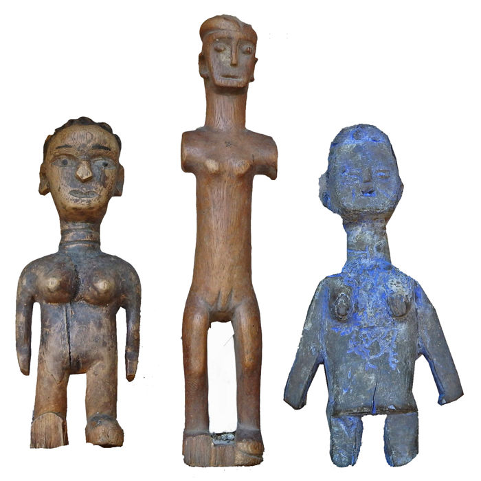 Set of three  Venavi figures  - EWE Togo