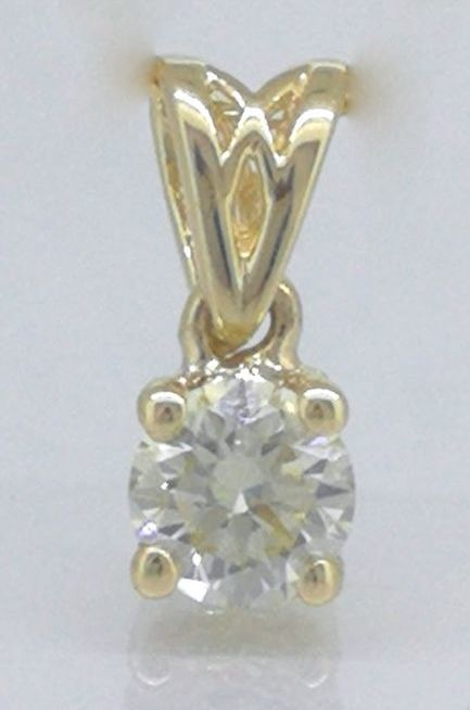 Solitaire pendant with 1 brilliant cut diamond of 0.30 ct - *** No reserve price***