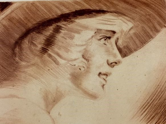 Max Brunning (1887-1968) - A lady in a hat
