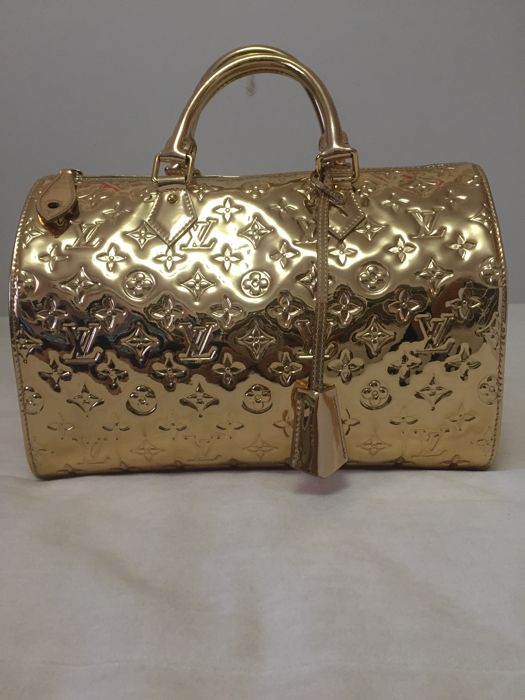 Louis Vuitton - Speedy 30 Mirror Gold Handtas
