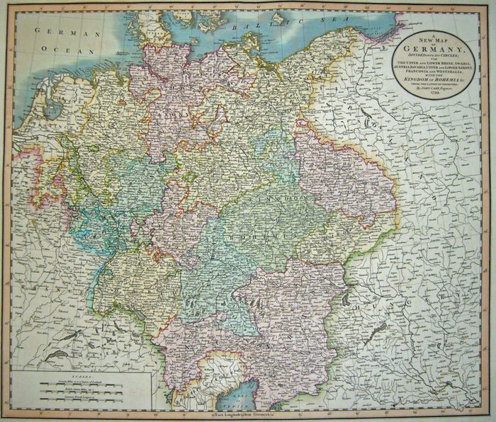Map Of Germany Divided.Cary A New Map Of Germany Divided Into Its Circles 1781 1800