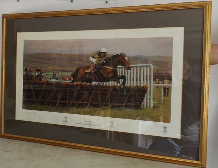 Championship Hurdle Cheltenham 1998 Limited edition of 950. Peter Curling - Istabraq - Charlie Swan - Personally signed - 1998