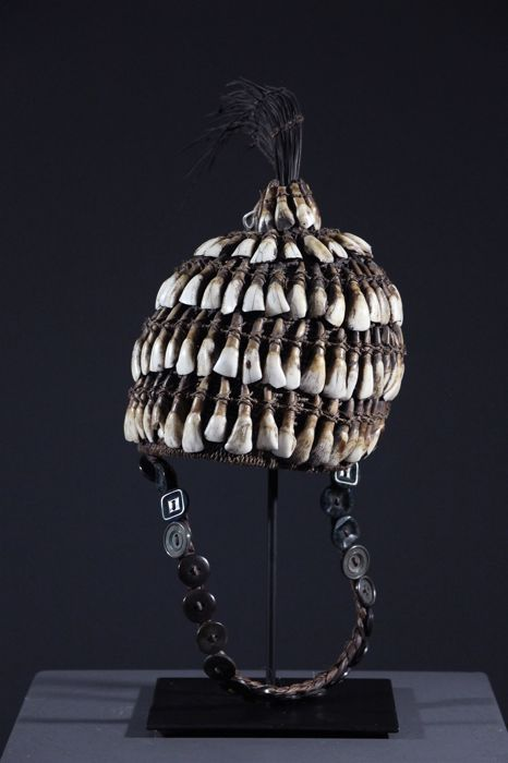 African Lega headgear of the Bwami