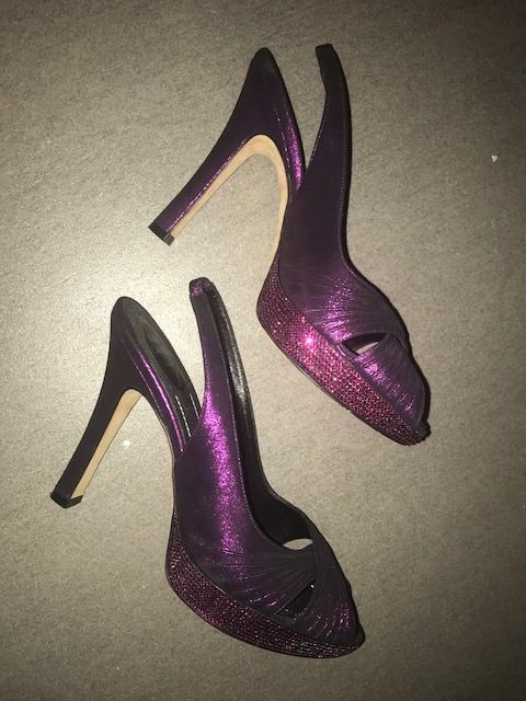 René Caouilla shoes with Swarovski soles, in very good condition, worn once at a gala party