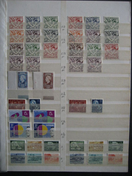 Suriname 1930/1961 - Collection Airmail and Port Curaçao and Suriname