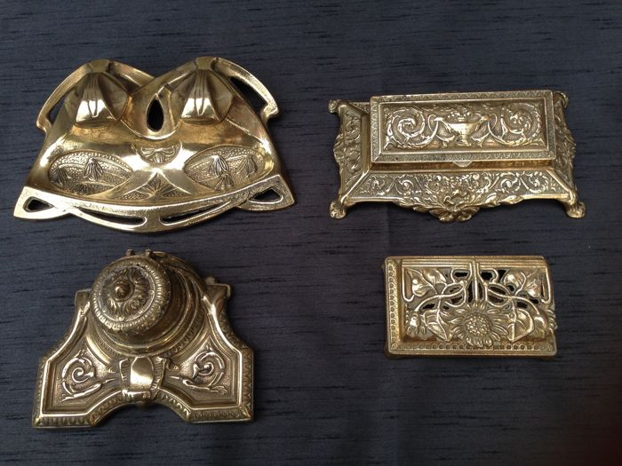 Beautiful brass stamp boxes and ink pots