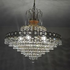 Magnificent vintage lamp chandelier style with crystal tears