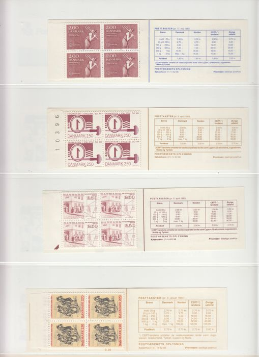 Denemarken - Stamp booklets