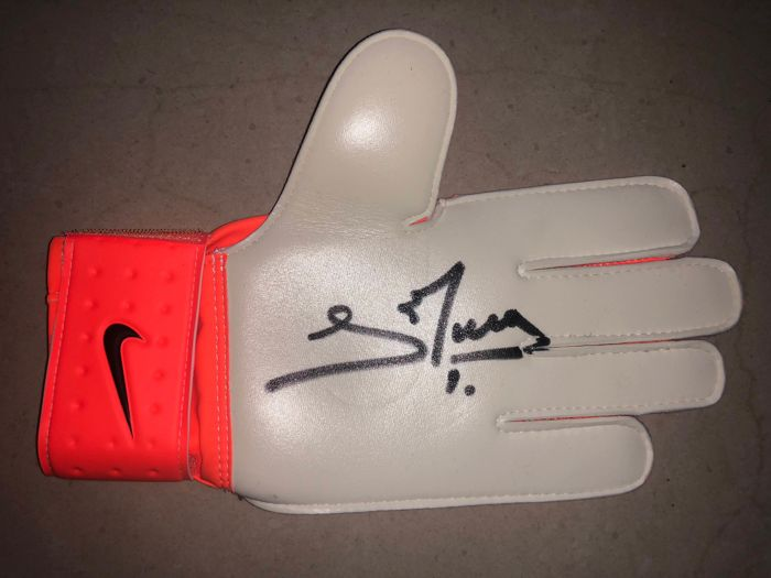 Subproducto inoxidable Cabecear  David De Gea Hand Signed Nike Goalkeeper Glove Exact - Catawiki