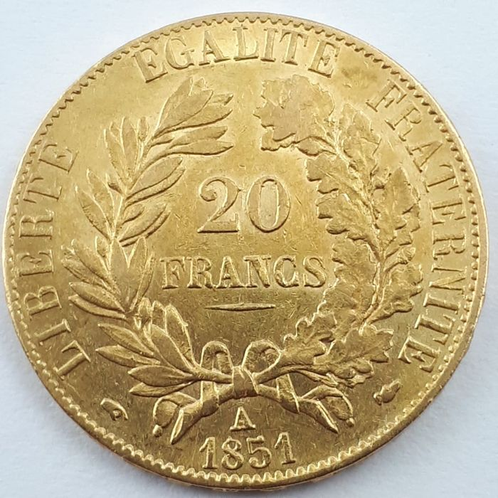 20 Francs 1851-A Ceres - Or