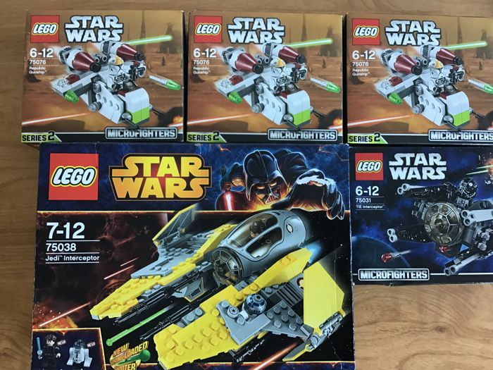 Lego Star Wars Republic Gunship 75076 Micro Fighter Complete