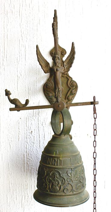 """A bronze Monastery Wall Bell with Inscription """"Qui Me Tangit: Vocem Meam, second half 20th century"""