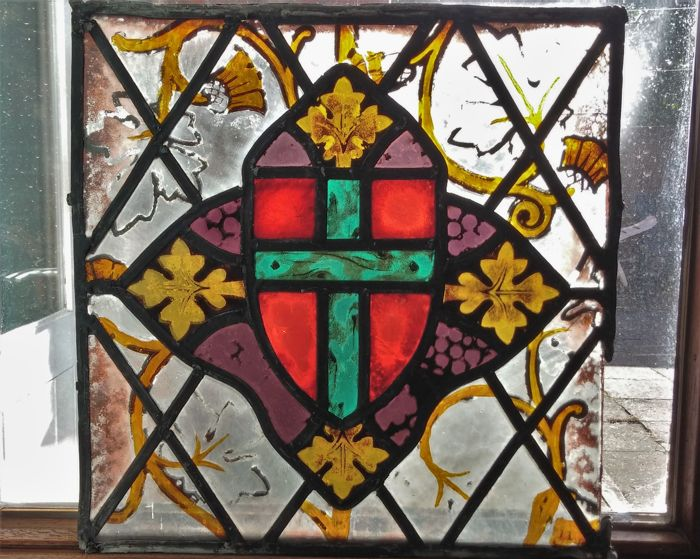 Stained glass church window - probably 19th century