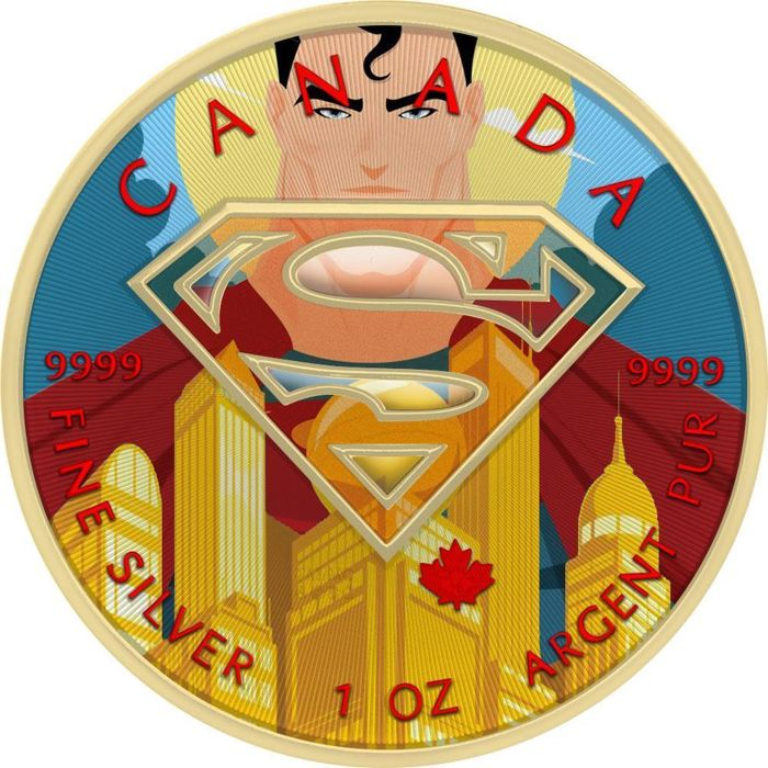"Canada - 5 Dollar 2016 - Superman ""Metropolis"" - 1 oz - Silver"