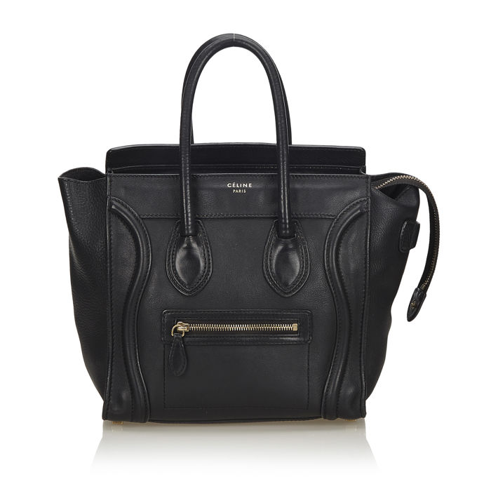 Celine - Leather Micro Luggage Tote