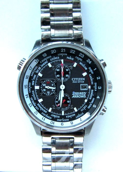 Citizen - Eco Drive World Time Chronograph Red Arrows - AT0361-06E cal. H500 - Men - 2011-present