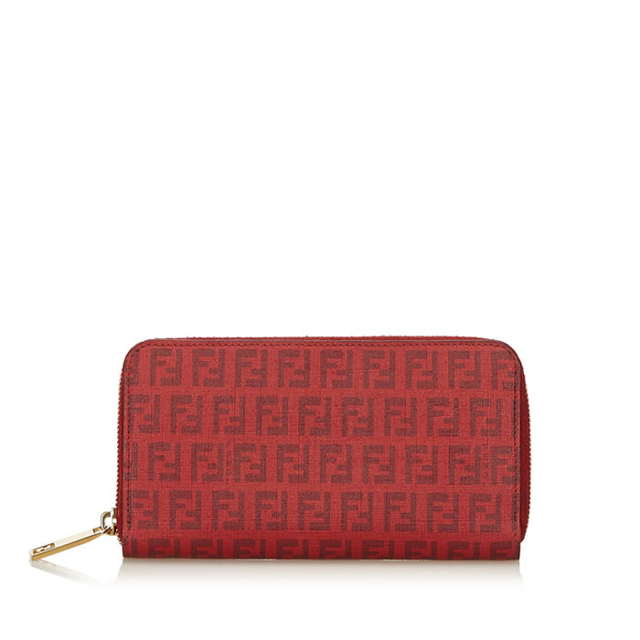 Fendi - Zucchino Zip Around Long Wallet
