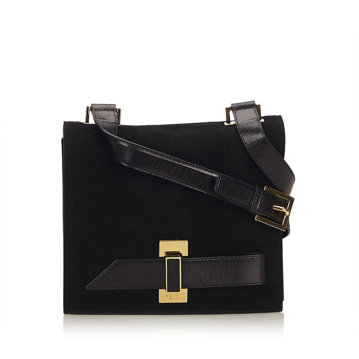 Fendi - Suede Crossbody Bag