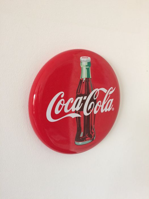 Metal advertising sign for Coca Cola 31 cm