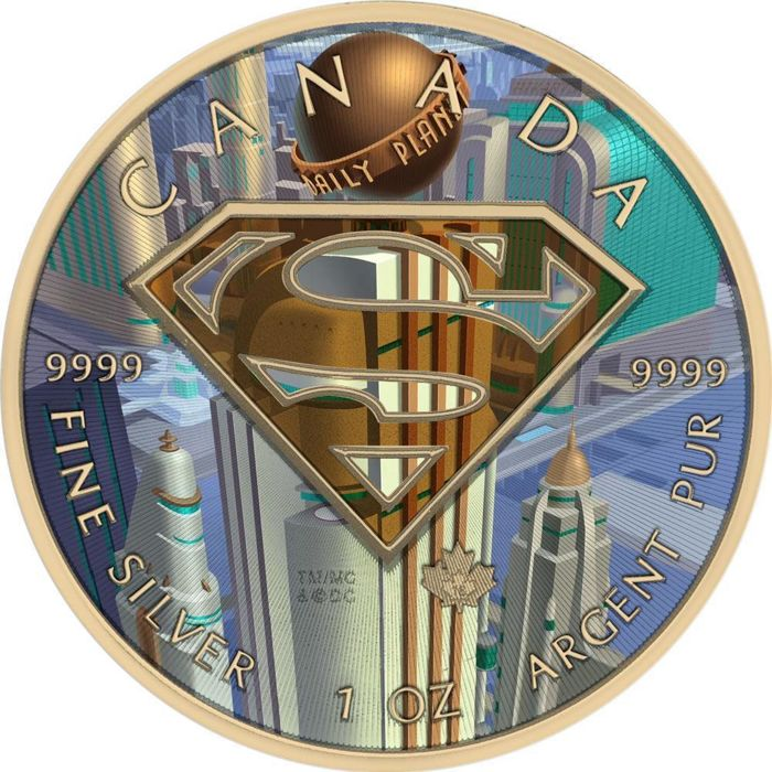 "Canada - 5 Dollar 2016 - Superman ""Daily Planet"" 1 oz  - Argent"