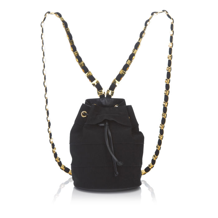 Ferragamo - Chemical Fiber Vara Chain Backpack