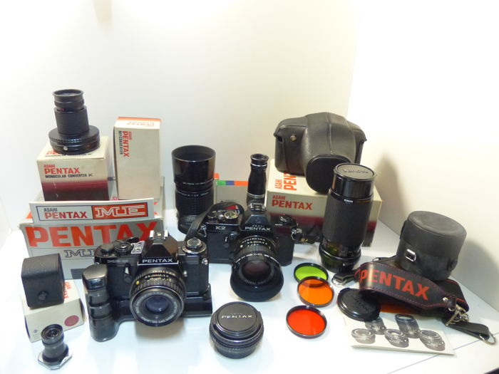 Pentax k2, Pentax ME super + 5 lenses and accessories
