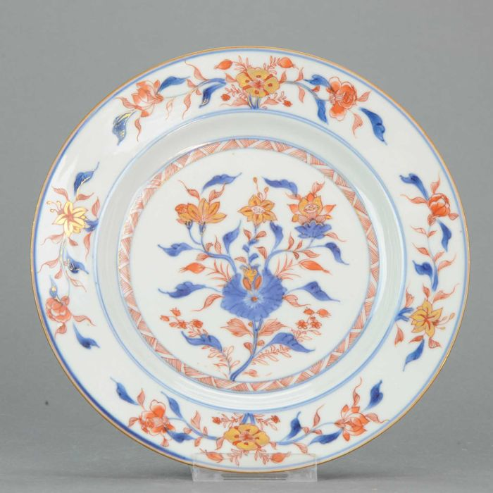 PERFECT CONDITION Delicate Kangxi Imari Plate - China - 18c
