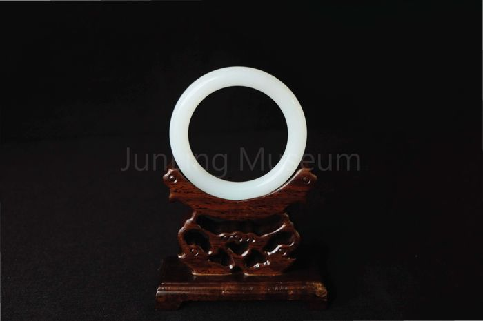 Hetian Jade Bangle - Fine White Jade