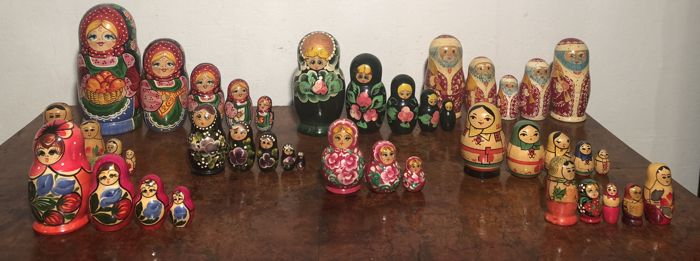 Hand-Painted Matryoshka Dolls - from Russia.