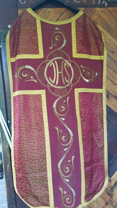 Sacred liturgical vestment church chasuble 19th century